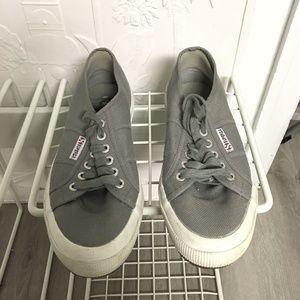 Gray Superga Sneakers